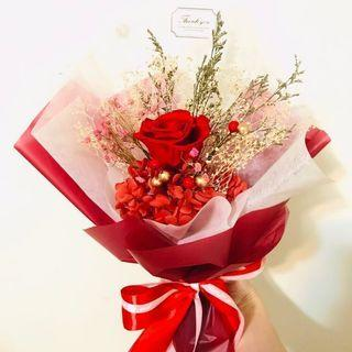 🌹日本保鮮花玫瑰小花束 情人節生日周年紀念婚禮母親節禮物 JAPAN PRESERVED ROSE FLOWERS MINI BOUQUET VALENTINES BIRTHDAY WEDDING  MOTHER'S DAY GIFTSo