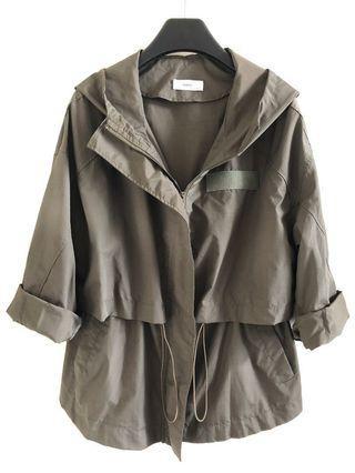 韓國HAN軍綠色風衣外套