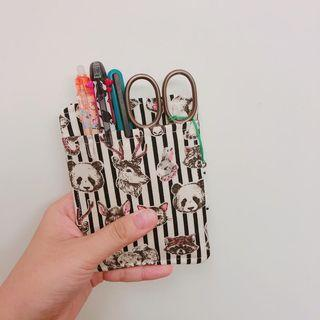 DIY 日本布藝 口袋筆插 護士袋