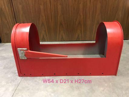 🈹美式郵箱 拍攝場景 花盆 Red mailbox, Post box, Photo booth, Planting