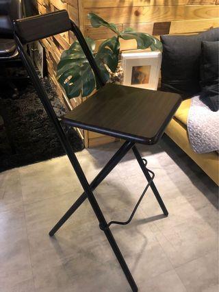 實木貼皮高腳折疊椅