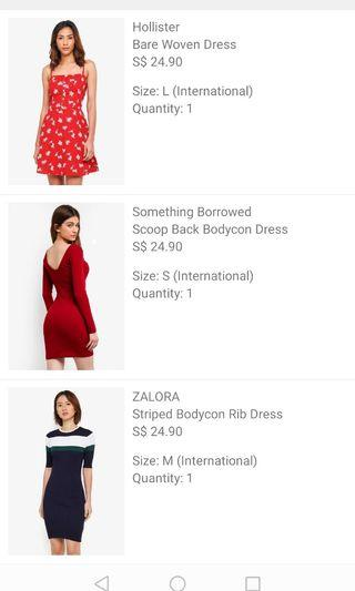 ZALORA SOMETHINGS BORROWED DRESS/ bodycon dress / knitted dress in Red /floral / Navy blue