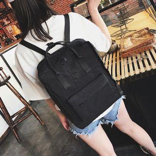 Kanken Embroidered Black Classic Backpack