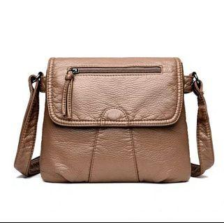 Women's Cross Body Bag (Brown)