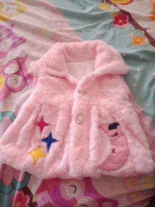 Jaket bulu anak perempuan cantik pink