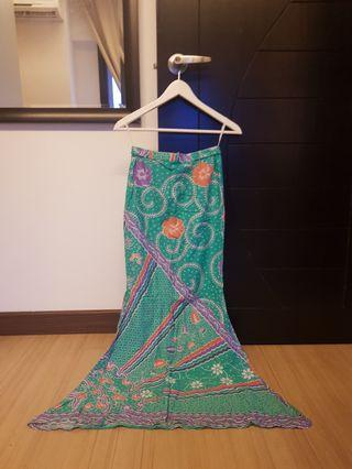 Batik Cotton mermaid skirt