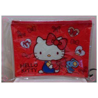 Hello Kitty 可愛資料袋_蝴蝶結 網袋 收納袋 文件袋 資料袋 ㊣ 文具 KT