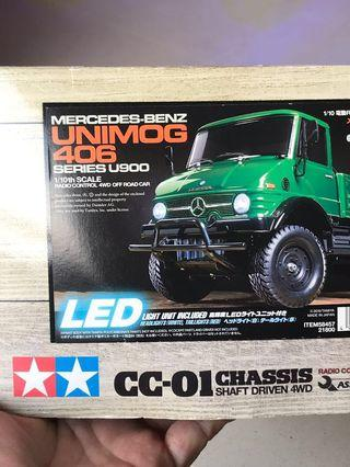 NIB Tamiya Unimog 406 CC01 complete with with water proof ESC / motor