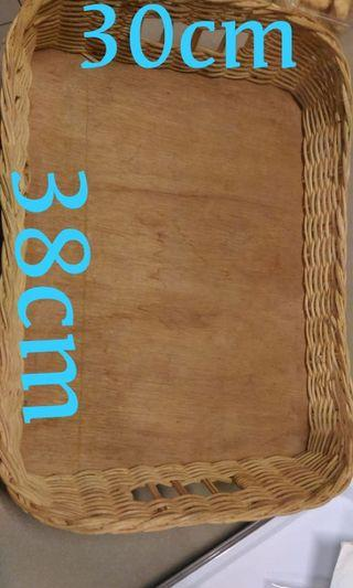 Rattan basket and tray