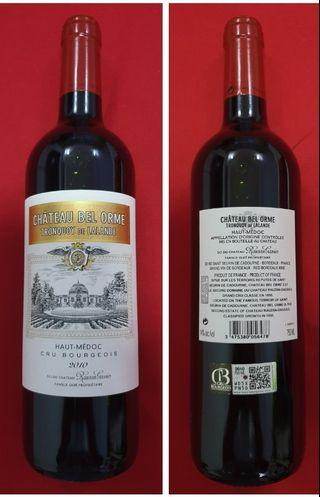 French Medoc 2010 red wine