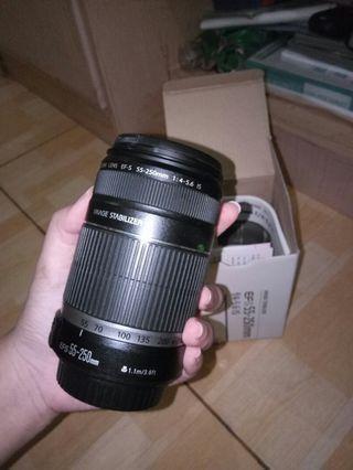 Lensa Canon EFS 55-250mm Lengkap Normal