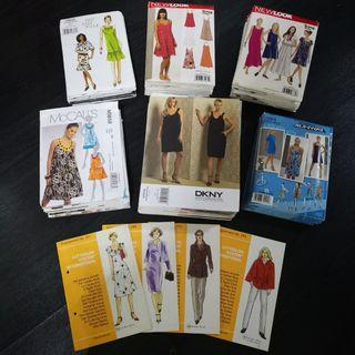 🚚 LOT of 60 Sewing Patterns