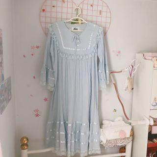 White Dress 斯文裙可愛裙女神裙蕾絲裙小白裙睡裙Katie