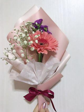 Gerbera/Carnation bouquet