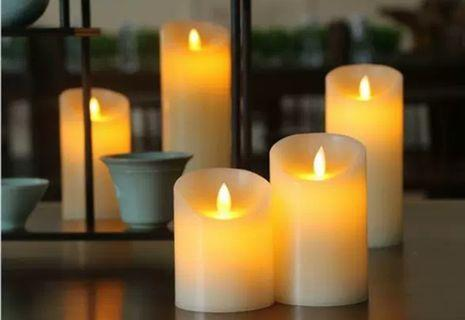 Set of 5 flickering flameless candles