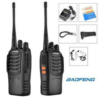 Original BaoFeng BF-888S Frequency Walkie Talkie 16 Channel Radio UHF 1set 2pcs