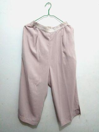 #BAPAU Celana Bahan Soft Pink