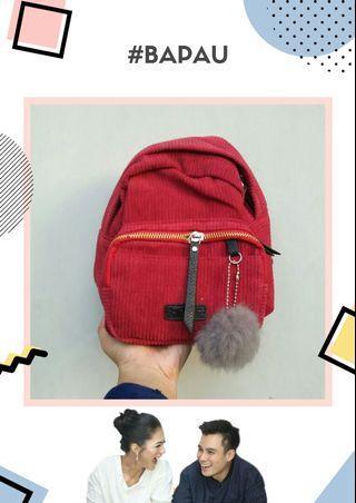 #BAPAU Mini Backpack tas corduroy