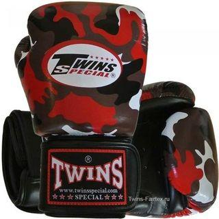 《TWINS SPECIAL BOXING GLOVES FBGV-ARMY RED》12oz
