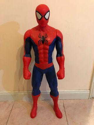 Spider man 80cm 膠公仔