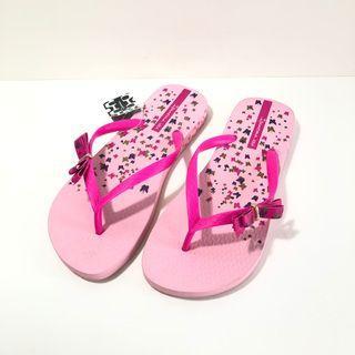 Ipanema 女生夾腳拖鞋 巴西尺寸36(吉賽兒 蝶戀仲夏人字夾腳拖鞋-粉紅)