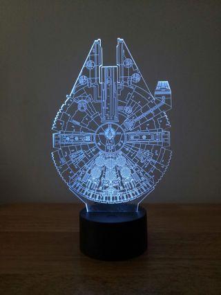 Star Wars Millennium 3D LED Light 千歲鷹號立體LED小夜燈