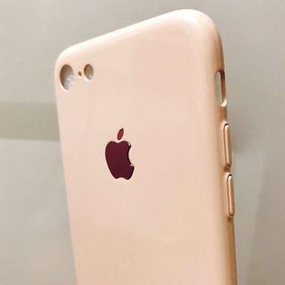 iphone 7 / 8 淡粉色 case 手機殻 電話殻 全包 金屬 超薄輕身 勁靚