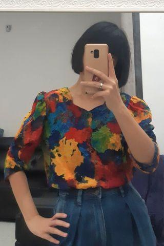abstract top with vintage touch