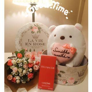Birthday Preset Set - Perfume / Plush Toy / Flower