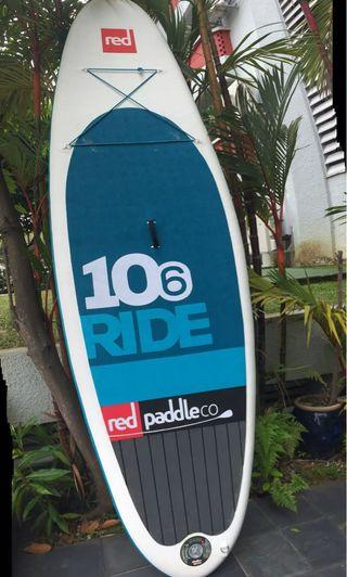 """Red Paddle 10'6"""" inflatable stand up paddle board"""