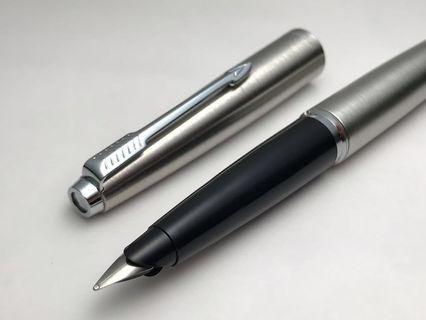 派克 45 拉絲不鏽鋼 法國 Parker 45 Flighter (賣得最久的鋼筆)鋼筆