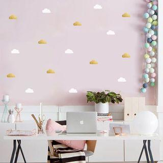white cloud wall stickers
