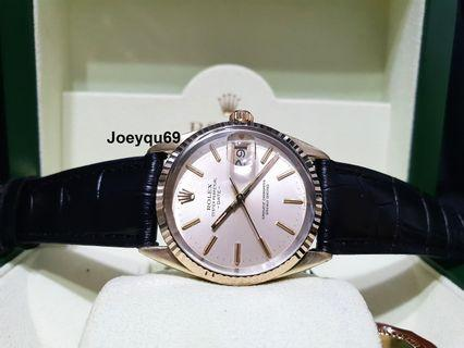 Yellow GOLD- ROLEX Oyster quickset Date 15505 Automatic!