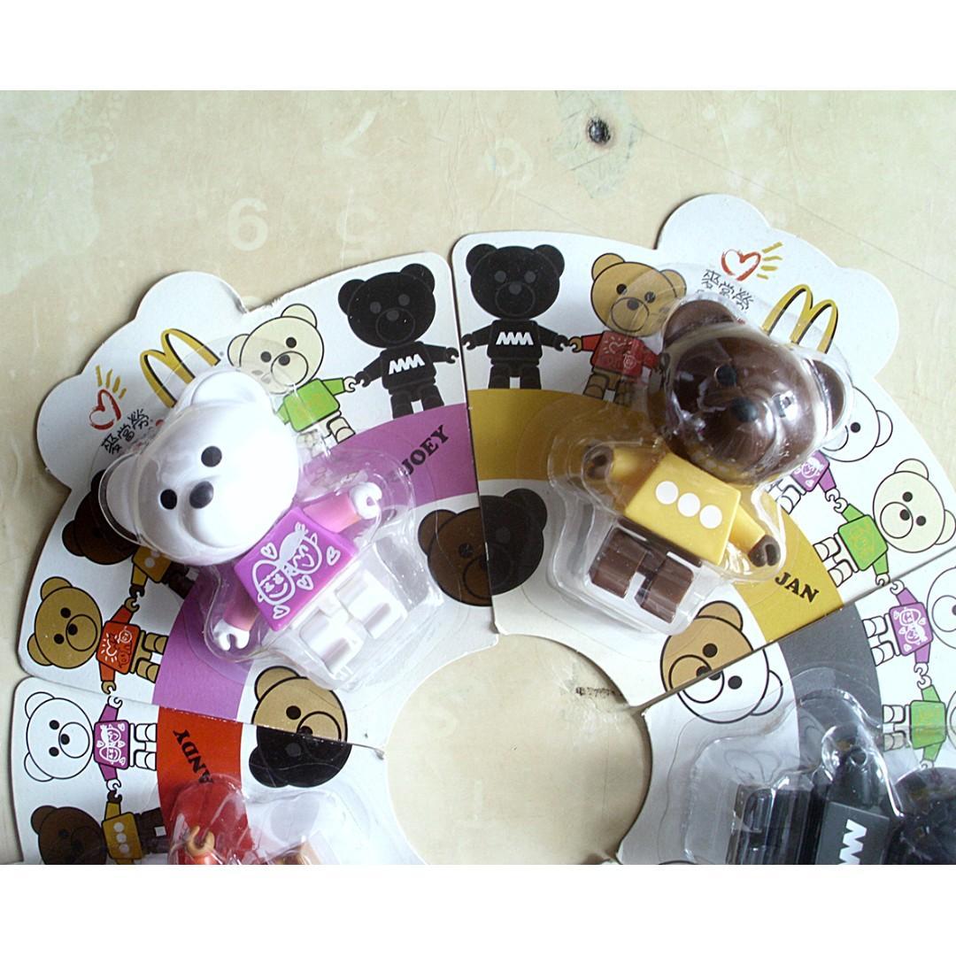 2010年麥當勞愛心同樂日香港明星設計小熊模型
