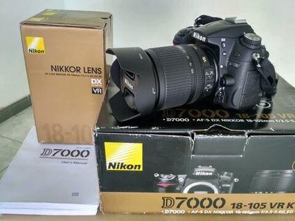 Di jual kamera Nikon d7000 kit 18-55
