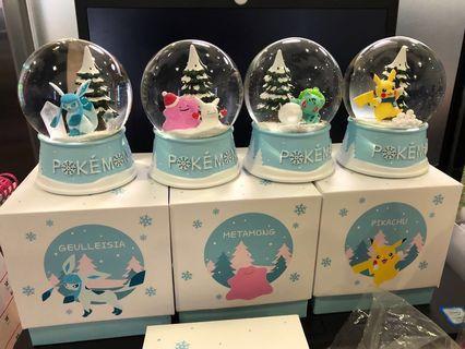 韓國 比卡超 lotteria 飄雪 水晶球 寵物小精靈