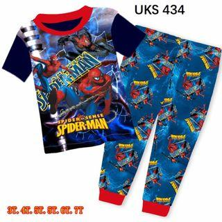 Spiderman Short  Sleeve Pyjamas for 3 to 7 yrs old