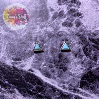 幾何三角耳環