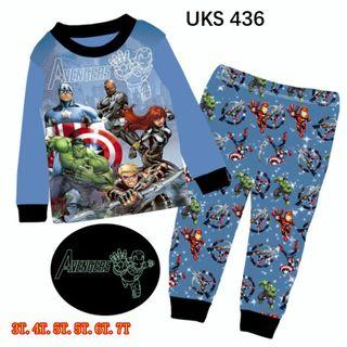 Captain America Long  Sleeve Pyjamas for 3 to 7 yrs old