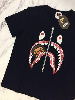 Bape kids baby milo zip shark