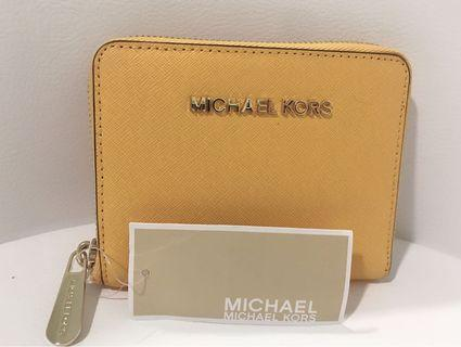 MK Leather Wallet (Yellow color)