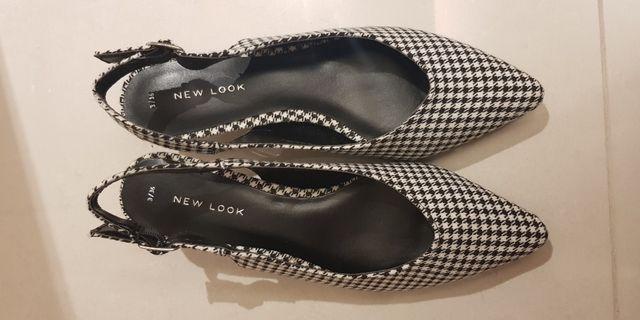 🚚 英國品牌new look千鳥格貓跟鞋