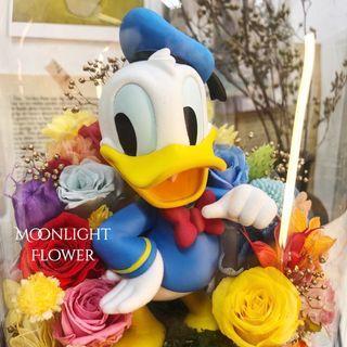 Donald Duck 唐老鴨 保鮮花 花束 畢業公仔 生日 週年 結婚 iPhone iPad LEGO