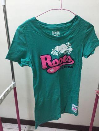 綠色Roots合身上衣