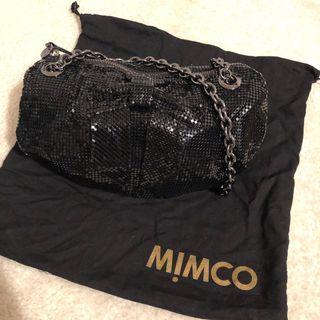 Mimco black clutch bag