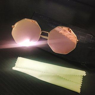 🚚 玫瑰金太陽眼鏡