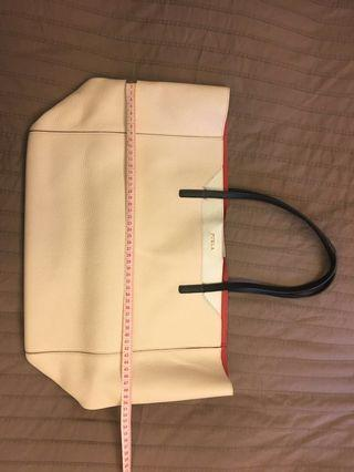 Furla soft leather tote bag