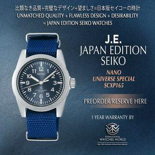 SEIKO JAPAN EDITION X NANO UNIVERSE QUARTZ SCXP165 BLUE NAVY