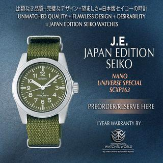 SEIKO JAPAN EDITION X NANO UNIVERSE QUARTZ SCXP163 MILITARY GREEN