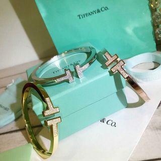 Tiffany蒂芙尼 情侶手镯 三款 金色 銀色 玫瑰金 開口手鐲